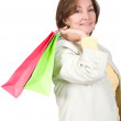 Business woman with shopping bags — Stock Photo #7749309
