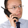 Stock Photo: Business mon analogue phone