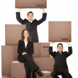 Business moving services — Stok fotoğraf