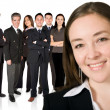 Royalty-Free Stock Photo: Business woman and her team