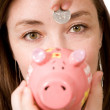 Piggy bank savings - Stock Photo