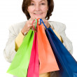 Business woman with shopping bags — Foto Stock