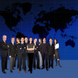 Business team worlwide — Stock Photo