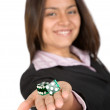 Business gambling — Stock Photo
