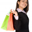 Beautiful business woman with shopping bags — Stock Photo