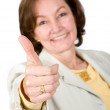 Good job - business woman — Stock Photo