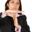 Stock Photo: Business woman time out