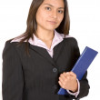 Business woman with folder — Stock Photo #7749501