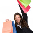 Business woman with shopping bags — Stock Photo #7749509