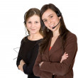 Stock Photo: Customer Support Girls