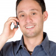 Friendly guy on the phone — Stock Photo