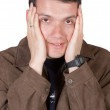 Casual guy under stress — Stockfoto