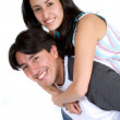 Casual happy friends - Stockfoto