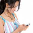 Stock Photo: Girl sending sms