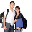 Students with books and bags — Stock Photo #7749554