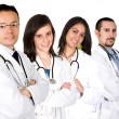 Medical team with male and female doctors — Stock Photo
