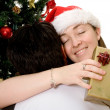 Couple at christmas time - Stock Photo