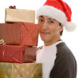 Stock Photo: Santclaus with lots of presents