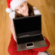 christmas online shopping — Stock Photo