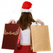 Santa with shopping bags — Stock Photo