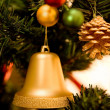 Christmas tree with decorations — Stockfoto