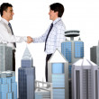 Stock Photo: Corporate business deal