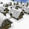 Winter village — Stockfoto