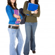 Stock Photo: Beautiful female students - full body
