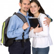 Couple of happy students — Stock Photo