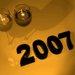 Royalty-Free Stock Photo: 2007 new year celebration