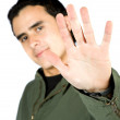 Man showing his hand — Stock Photo