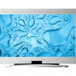 Stock Photo: Widescreen television