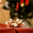 Stock Photo: Christmas gift ribbon