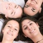 Girls on the floor — Stock Photo #7749674