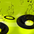 Abstract music background — Stock fotografie