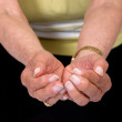 Hands of an eldery woman - Foto Stock