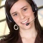Corporate ondersteuning vrouw — Stockfoto