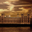 Houses of parliament - big ben - Stock Photo