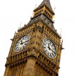 Stock Photo: Big ben over white