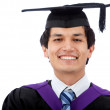 Graduation man portrait — Stock Photo