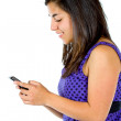 Stock Photo: Woman texting