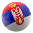 Stock Photo: 3D Serbia football