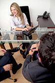 In a business meeting — Stock Photo
