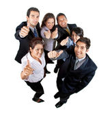 Businessgroup with thumbs up — Stock Photo