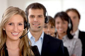Business customer support team — Stock Photo