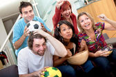 Watching soccer — Stock Photo
