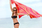 Woman with a sarong — Stock Photo
