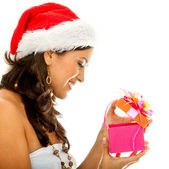 Santa woman — Stock Photo