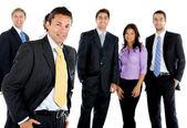 Homem de negócios com um grupo — Foto Stock