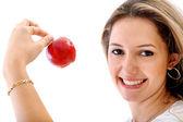 Mulher comer saudável — Foto Stock